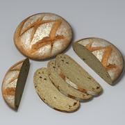 Round loaf 3d model