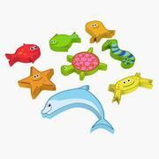 Sea Creature Magnet Toy 3d model