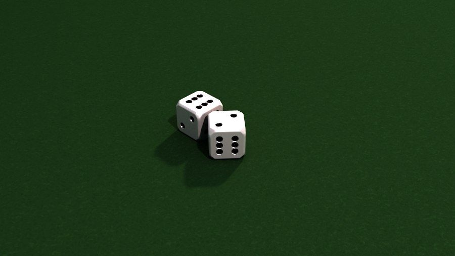 Dices royalty-free 3d model - Preview no. 5