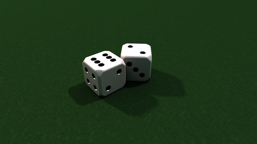 Dices royalty-free 3d model - Preview no. 1