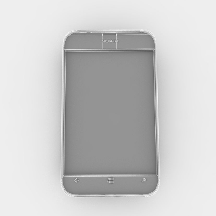 노키아 루미아 520 royalty-free 3d model - Preview no. 7
