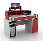 компьютерный стол дизайнера 3d model