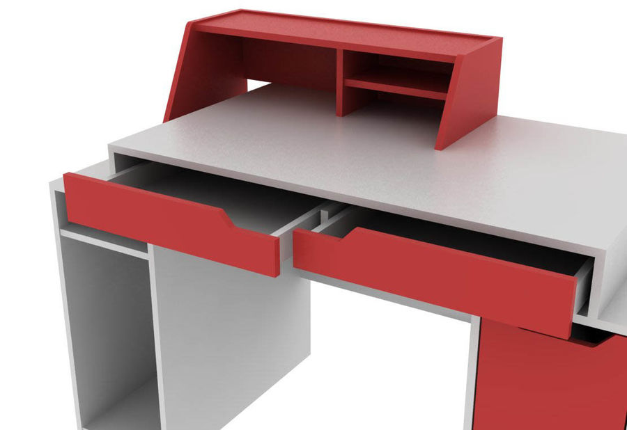Designer Computer Schreibtisch royalty-free 3d model - Preview no. 7
