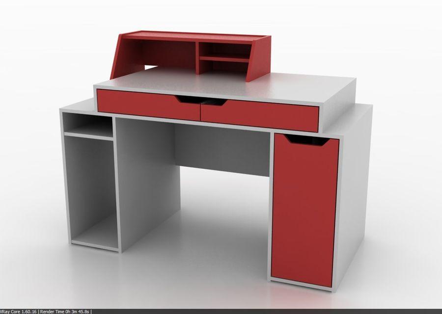 Designer Computer Schreibtisch royalty-free 3d model - Preview no. 2