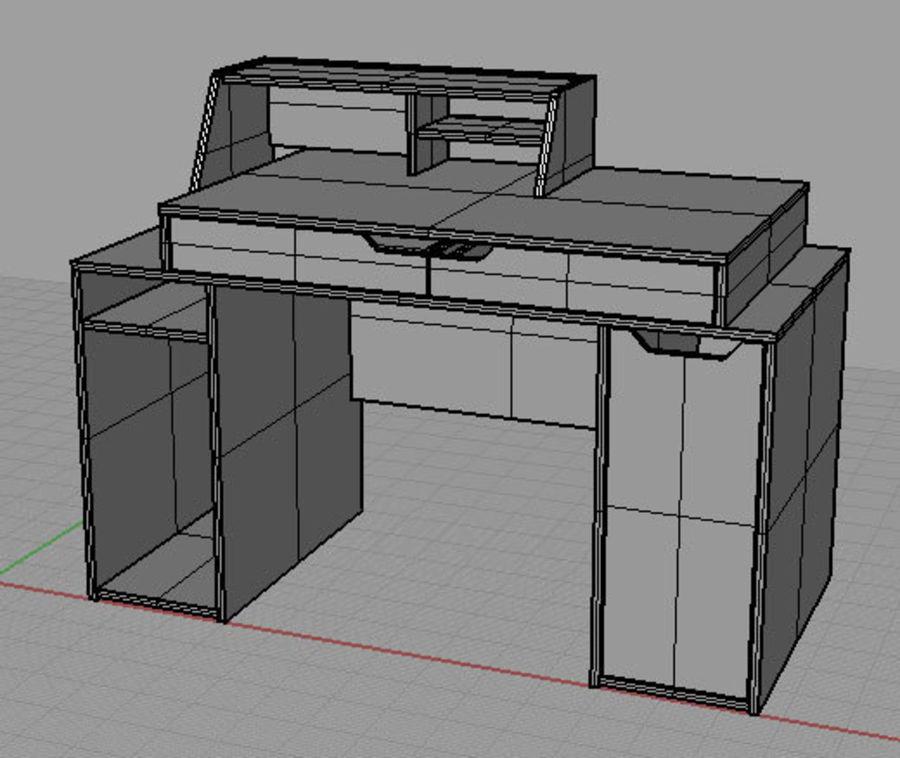 Designer Computer Schreibtisch royalty-free 3d model - Preview no. 3
