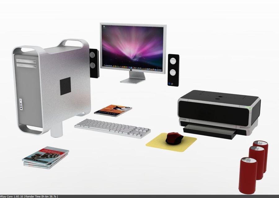 Designer Computer Schreibtisch royalty-free 3d model - Preview no. 6