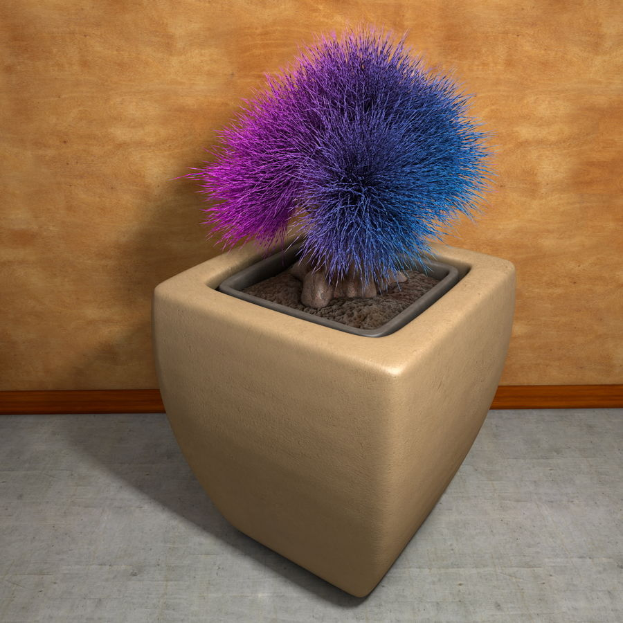 Flower Plant Pot Garden Potters royalty-free 3d model - Preview no. 5
