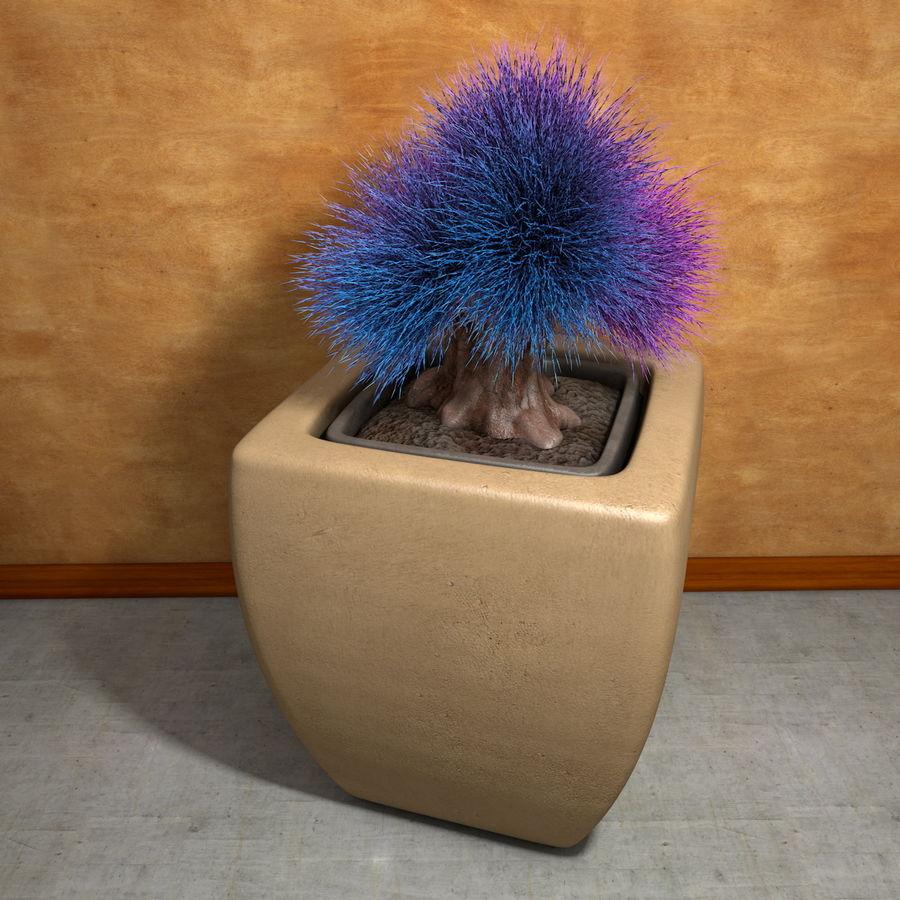 Flower Plant Pot Garden Potters royalty-free 3d model - Preview no. 3