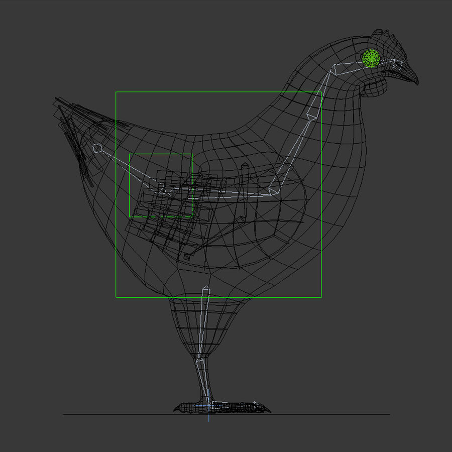 Chicken royalty-free 3d model - Preview no. 11