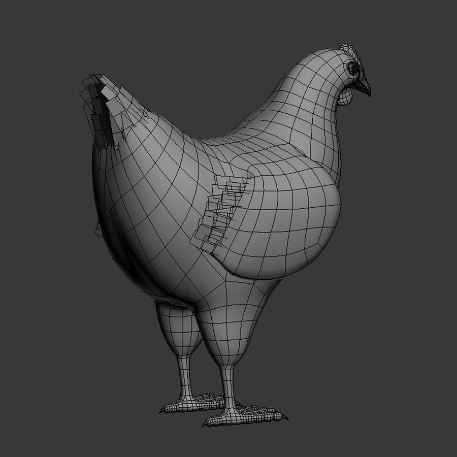 Chicken royalty-free 3d model - Preview no. 13