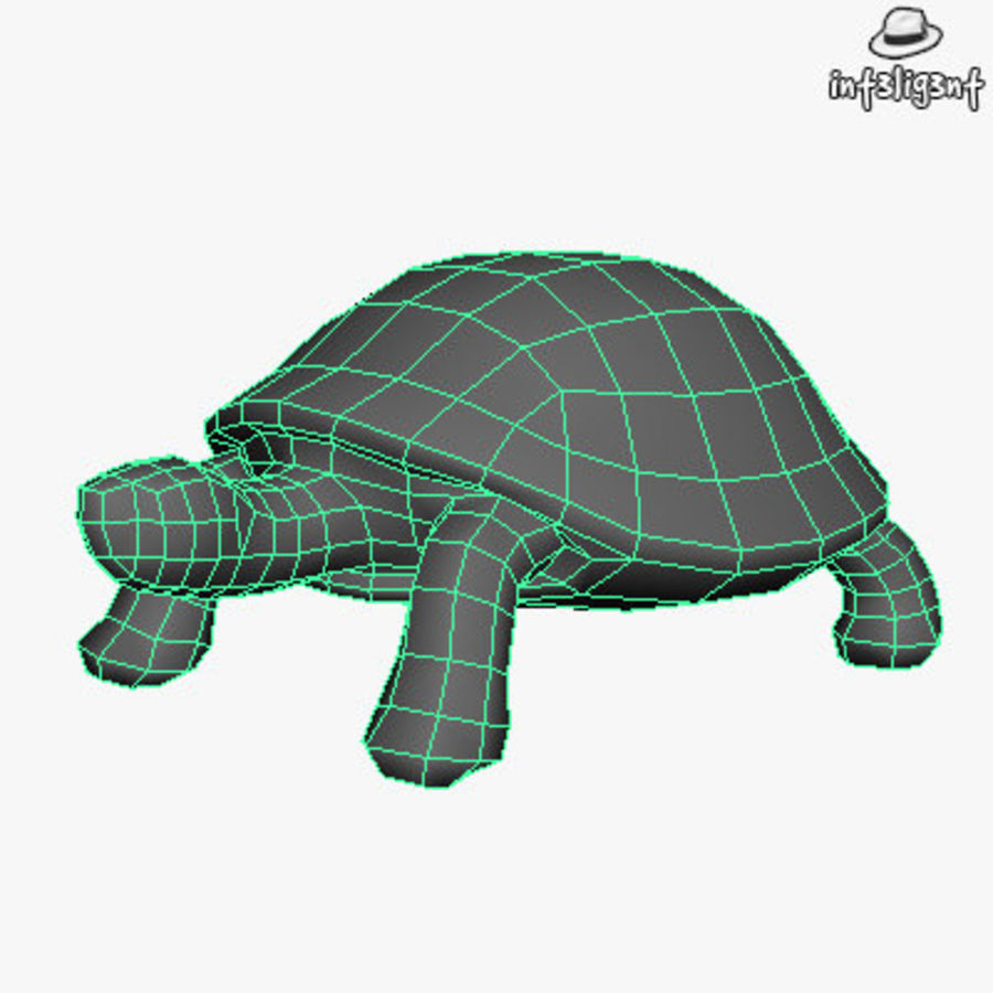 Low Poly Turtle royalty-free 3d model - Preview no. 4