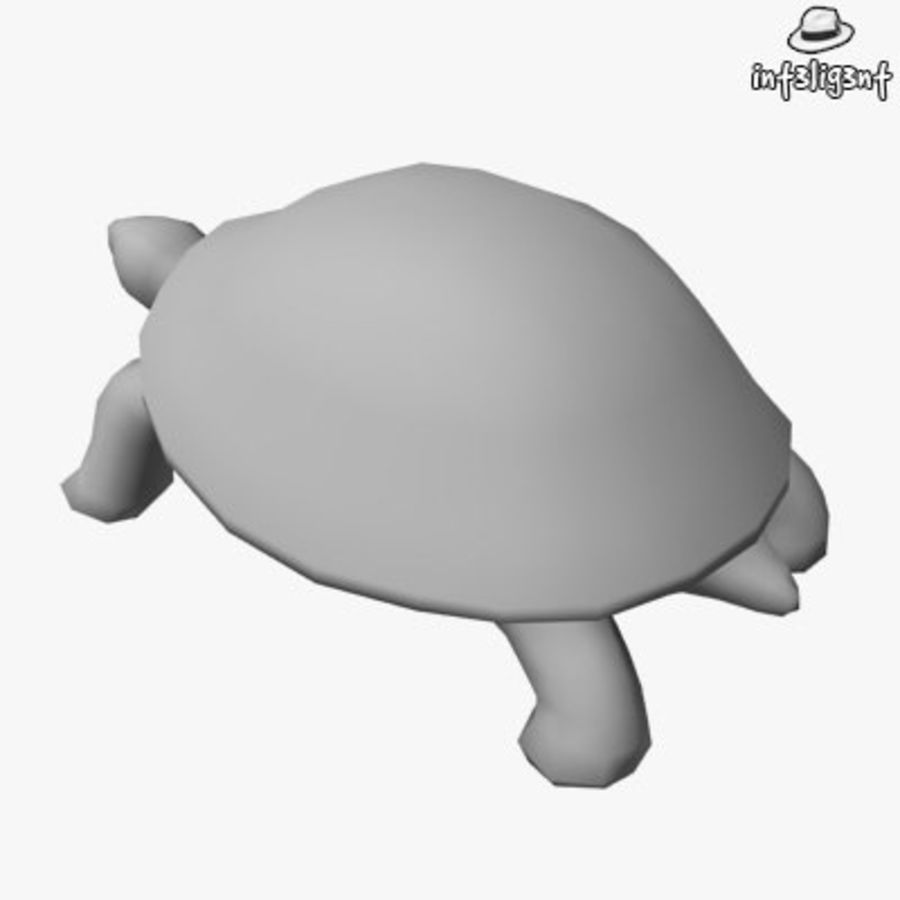 Low Poly Turtle royalty-free 3d model - Preview no. 3