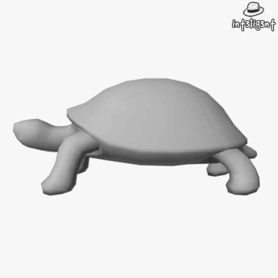 Low Poly Turtle royalty-free 3d model - Preview no. 2
