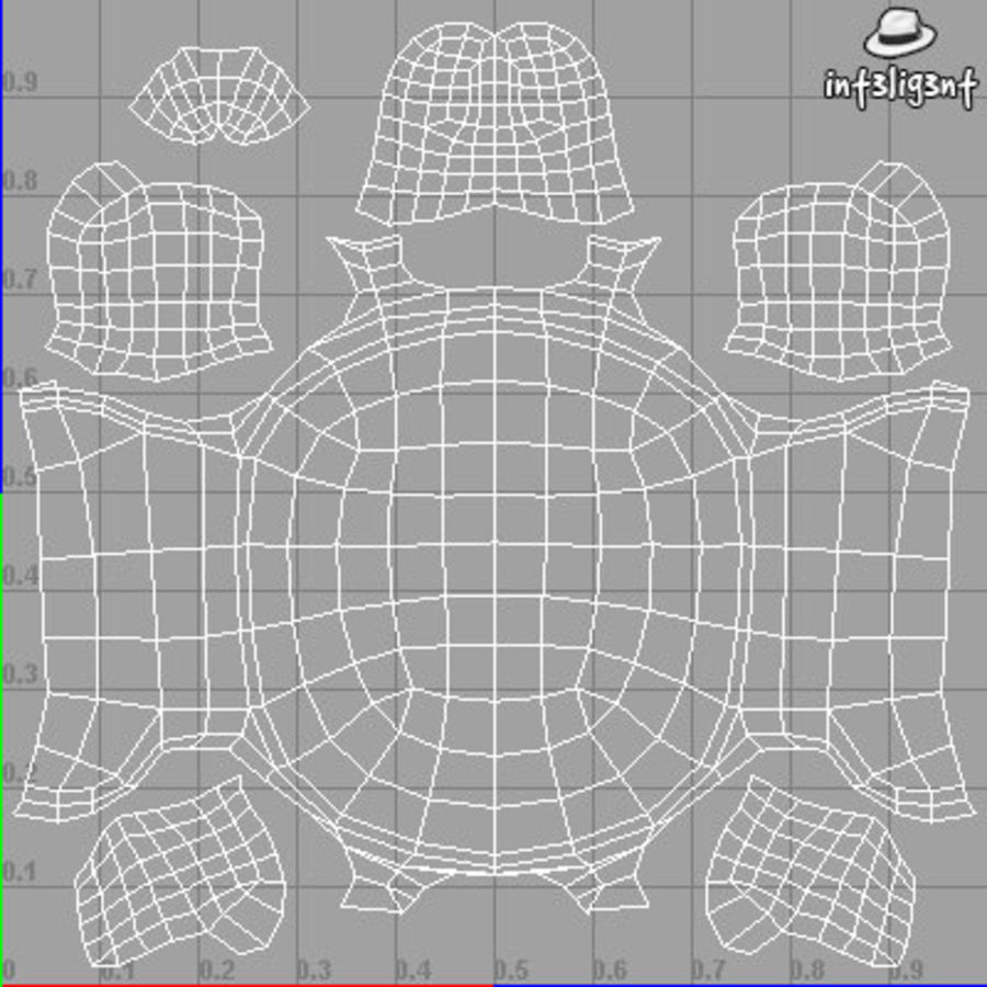 Low Poly Turtle royalty-free 3d model - Preview no. 7