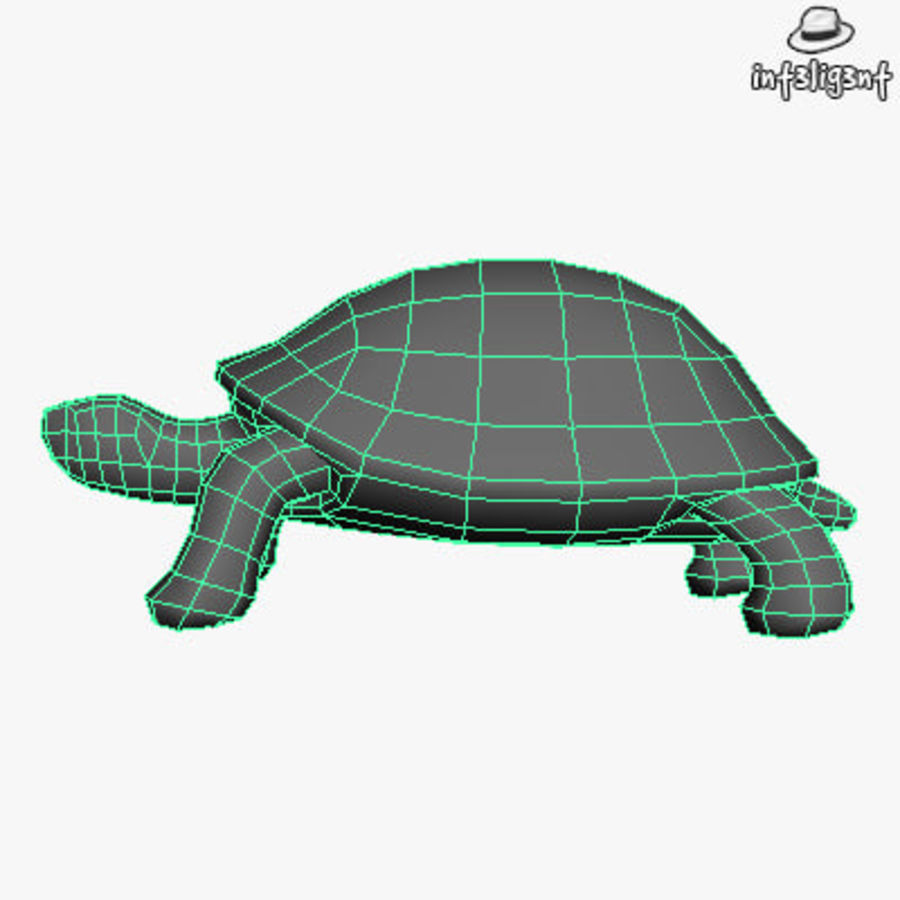 Low Poly Turtle royalty-free 3d model - Preview no. 5