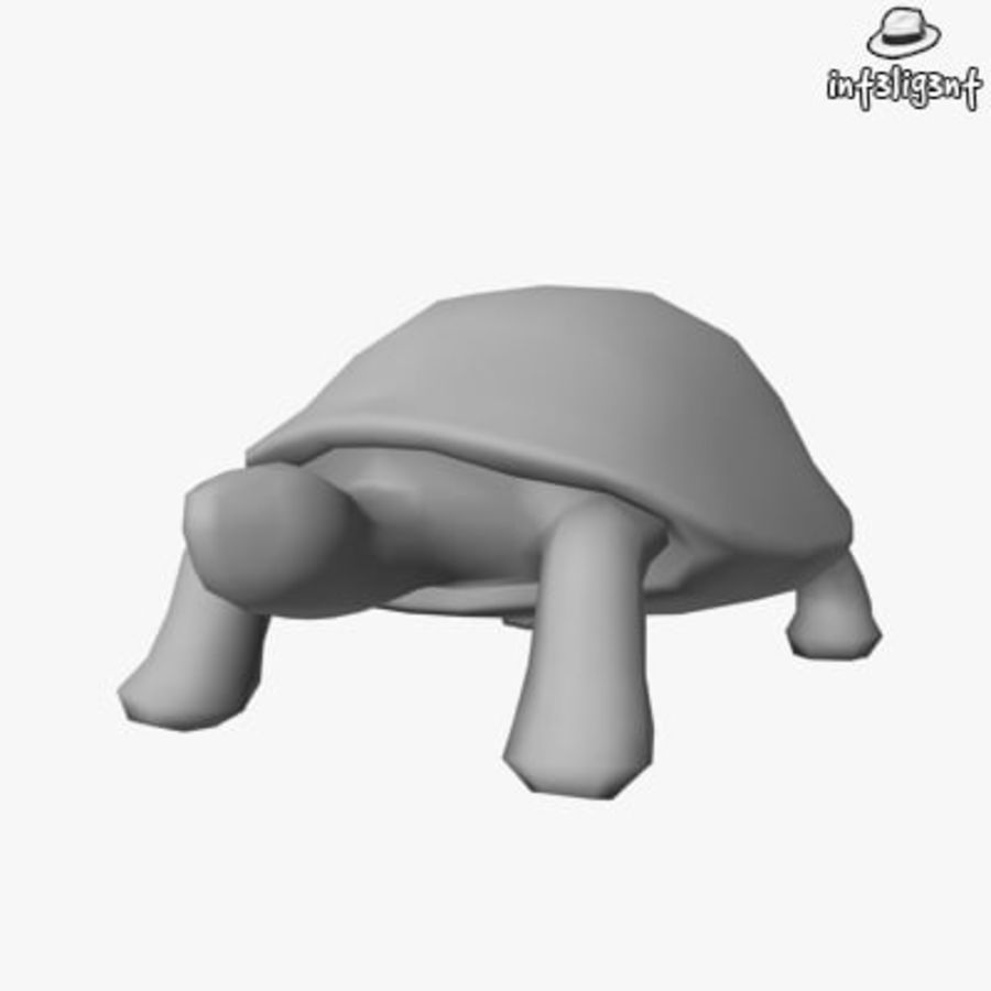 Low Poly Turtle royalty-free 3d model - Preview no. 1
