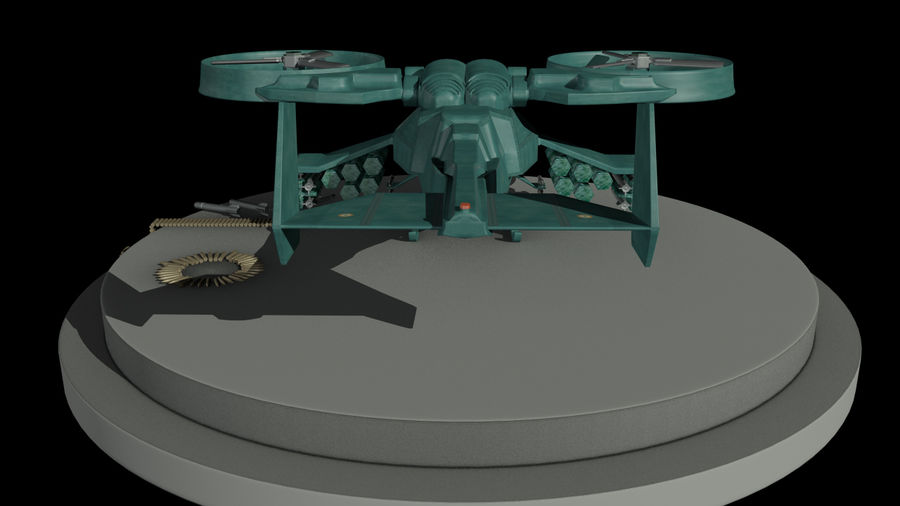 Avatar Gunship royalty-free 3d model - Preview no. 3