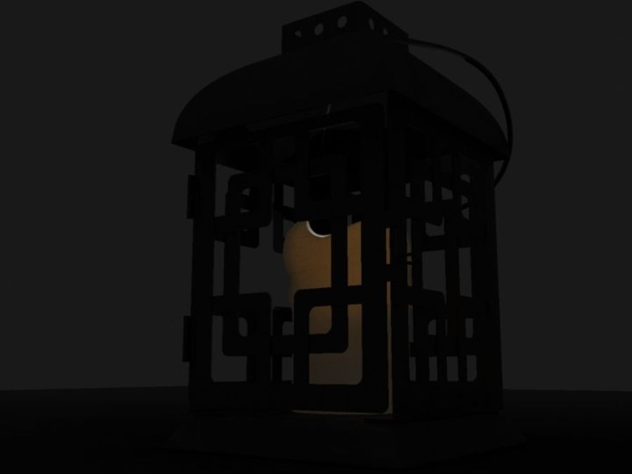 Lantern with Candle royalty-free 3d model - Preview no. 22