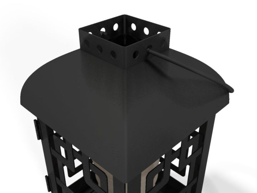 Lantern with Candle royalty-free 3d model - Preview no. 19