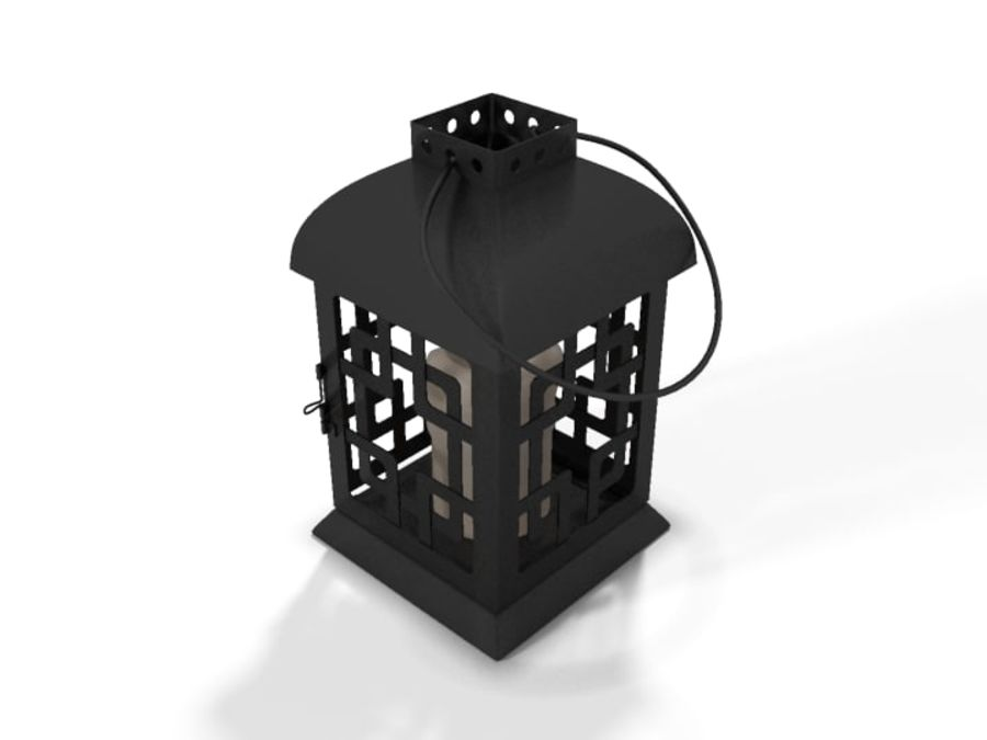 Lantern with Candle royalty-free 3d model - Preview no. 8