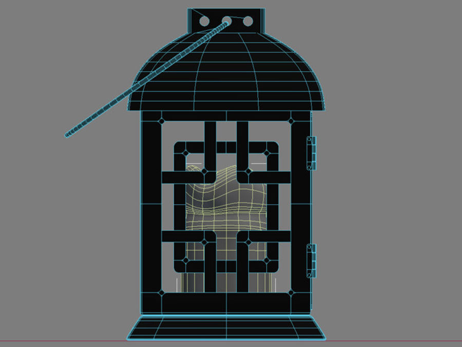 Lantern with Candle royalty-free 3d model - Preview no. 27