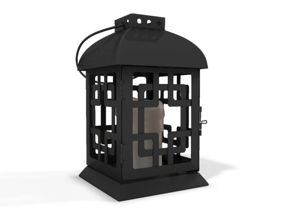 Lantern with Candle royalty-free 3d model - Preview no. 1