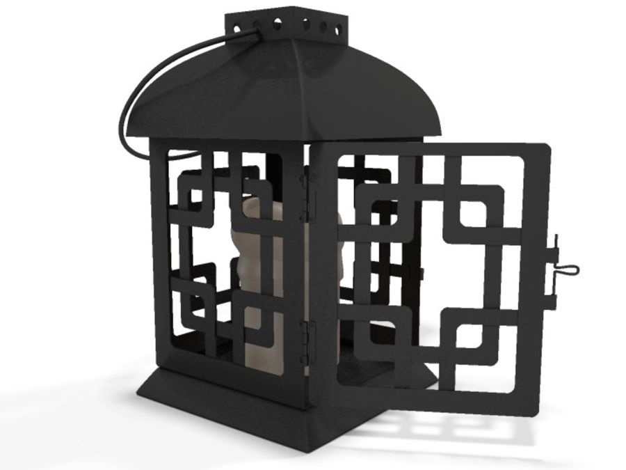 Lantern with Candle royalty-free 3d model - Preview no. 16