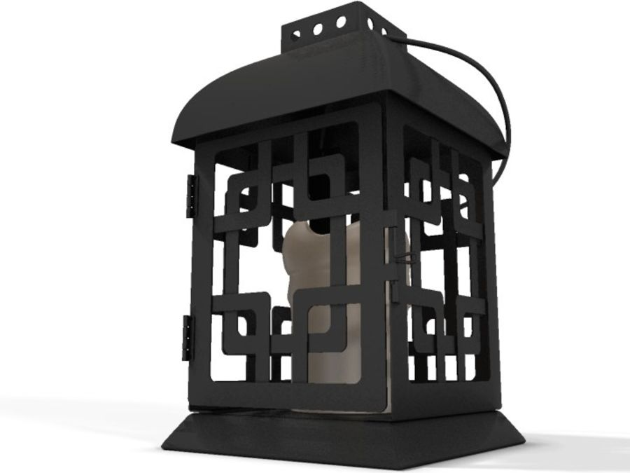Lantern with Candle royalty-free 3d model - Preview no. 21