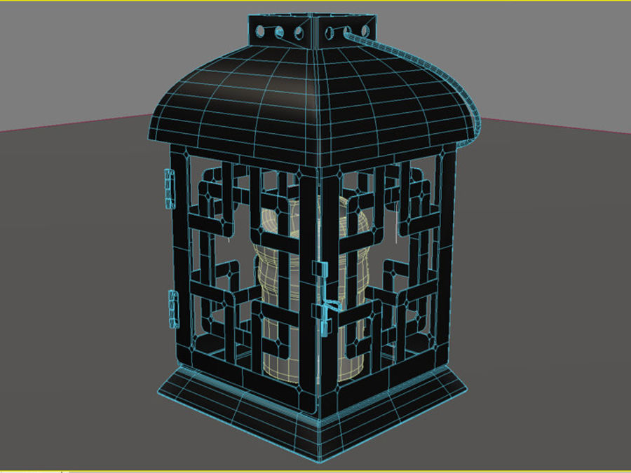 Lantern with Candle royalty-free 3d model - Preview no. 30