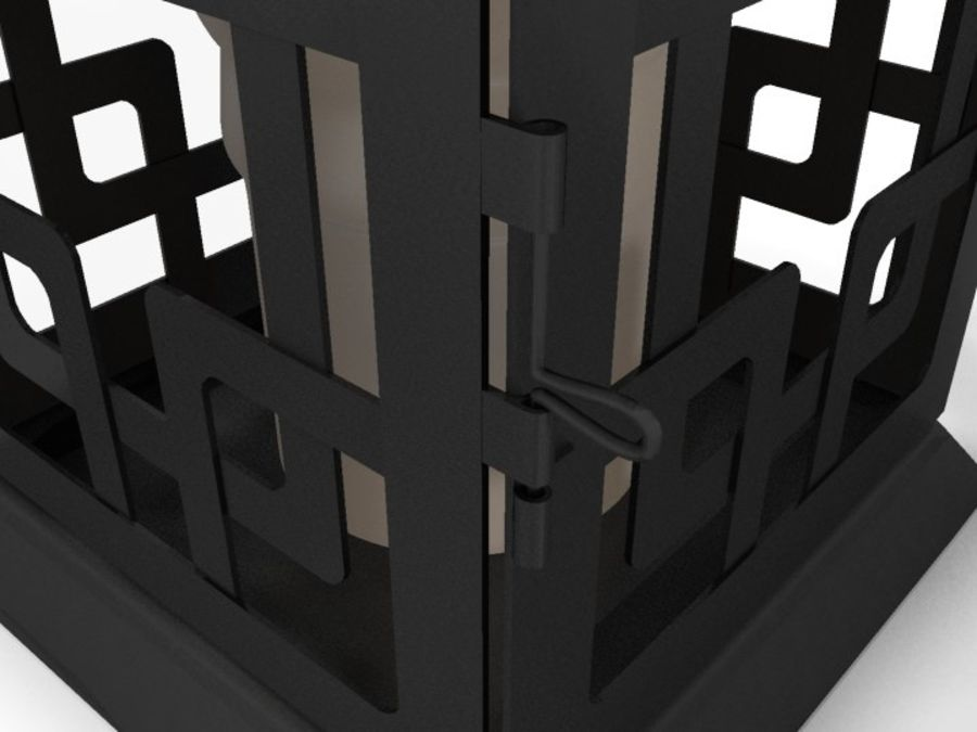 Lantern with Candle royalty-free 3d model - Preview no. 18