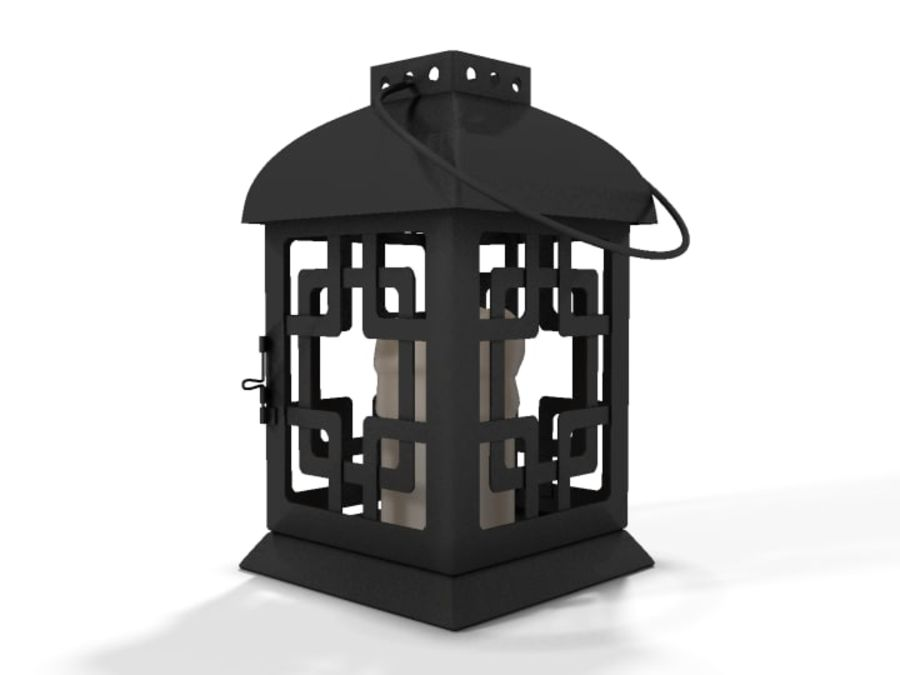 Lantern with Candle royalty-free 3d model - Preview no. 7