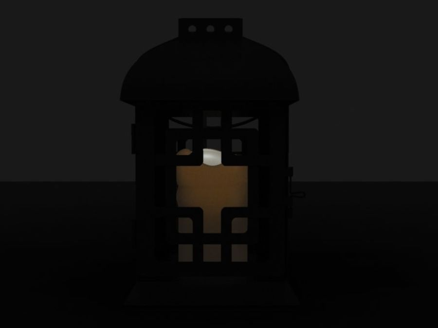 Lantern with Candle royalty-free 3d model - Preview no. 4