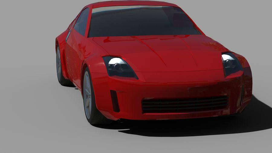 Nissan 350z royalty-free 3d model - Preview no. 12