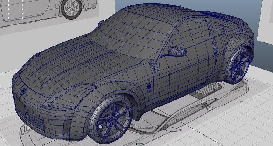 Nissan 350z royalty-free 3d model - Preview no. 9