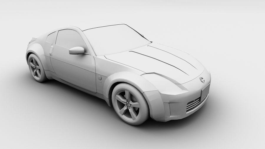 Nissan 350z royalty-free 3d model - Preview no. 6