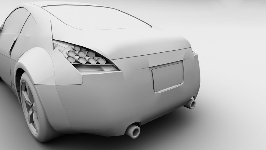 Nissan 350z royalty-free 3d model - Preview no. 8