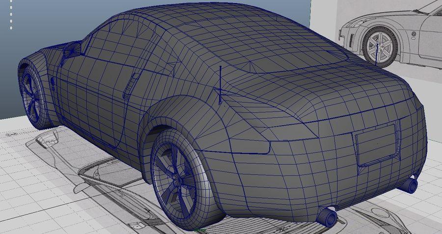 Nissan 350z royalty-free 3d model - Preview no. 10