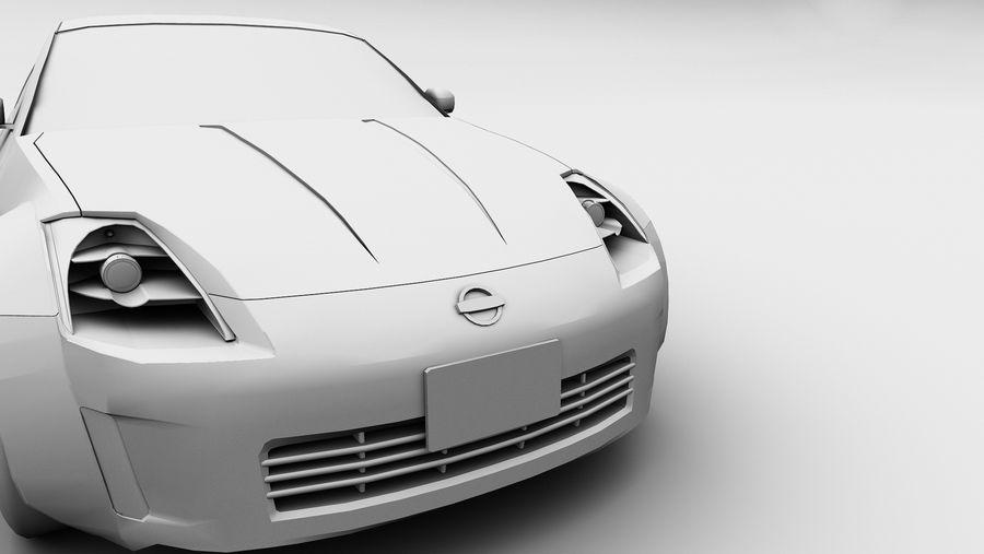 Nissan 350z royalty-free 3d model - Preview no. 7