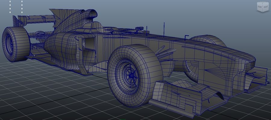 Voiture Formule 1 Fantasy royalty-free 3d model - Preview no. 2