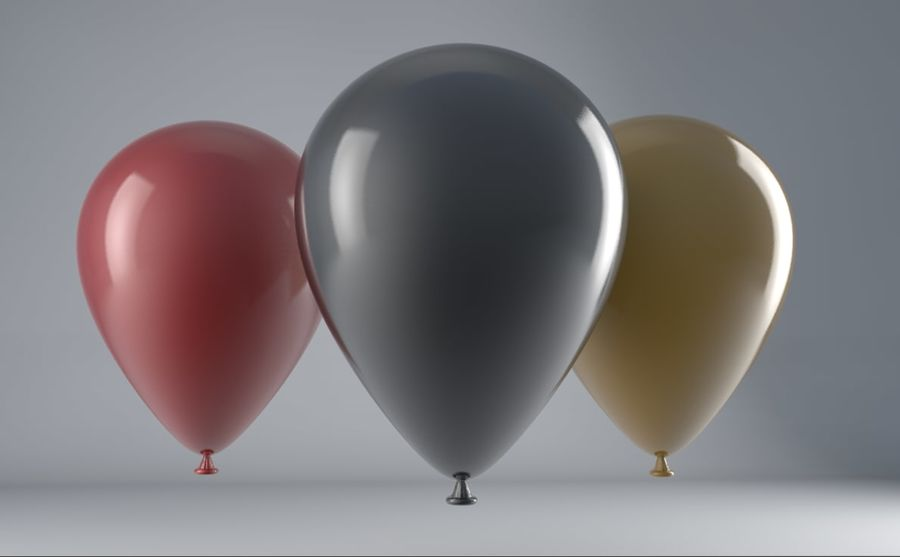 Balloons royalty-free 3d model - Preview no. 1