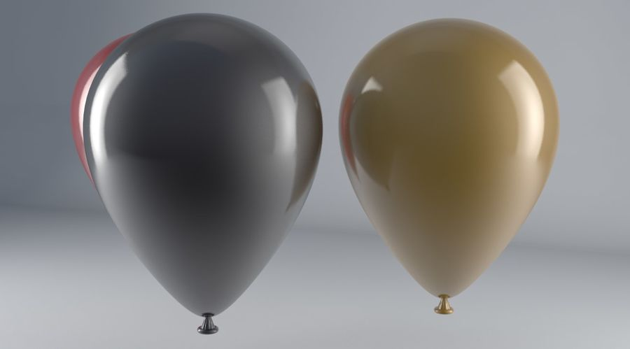 Balloons royalty-free 3d model - Preview no. 2