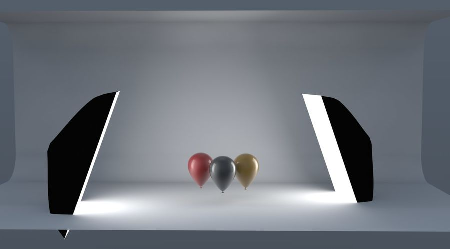 palloncini royalty-free 3d model - Preview no. 3