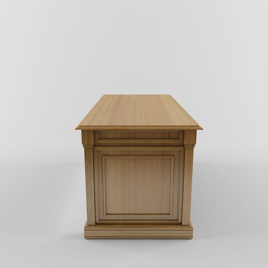 classic table desk royalty-free 3d model - Preview no. 1