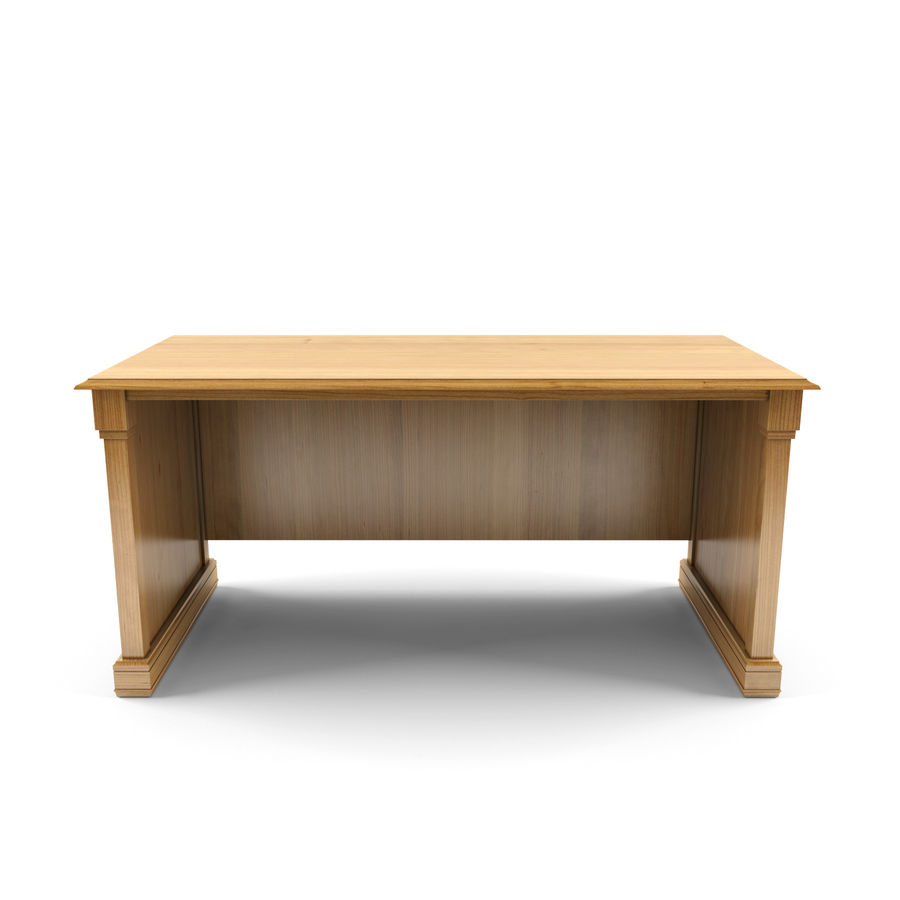 classic table desk royalty-free 3d model - Preview no. 2