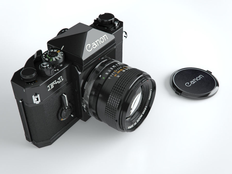 Canon F1 Spiegelreflexkamera royalty-free 3d model - Preview no. 2