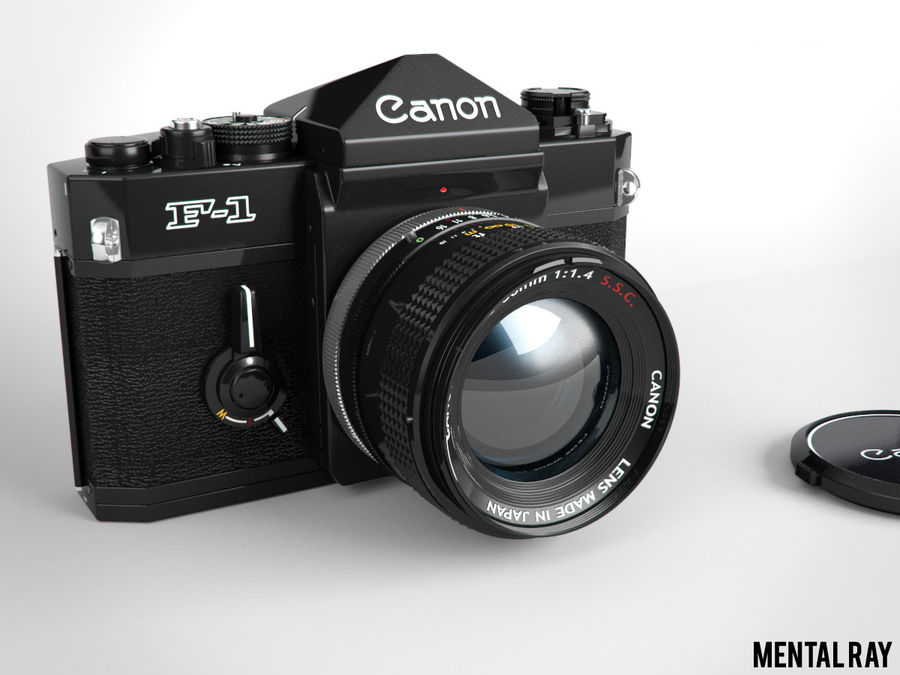 Canon F1 Spiegelreflexkamera royalty-free 3d model - Preview no. 11