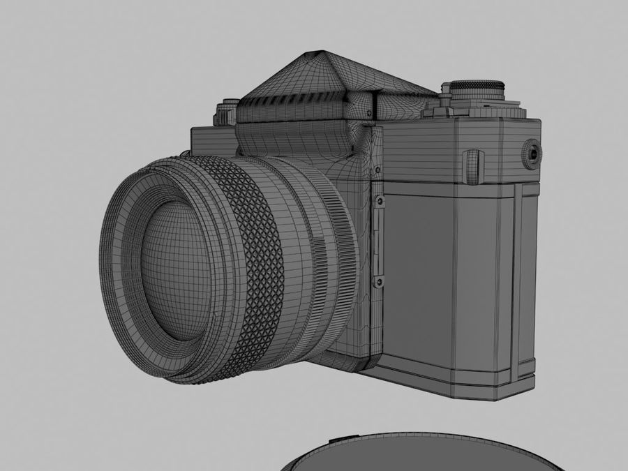 Canon F1 Spiegelreflexkamera royalty-free 3d model - Preview no. 10