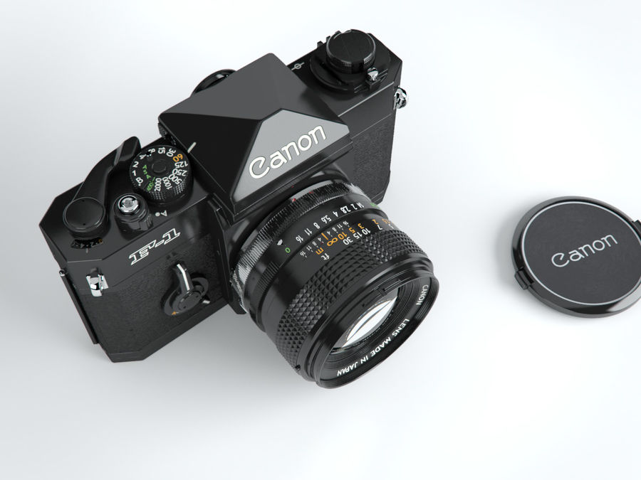 Canon F1 Spiegelreflexkamera royalty-free 3d model - Preview no. 4