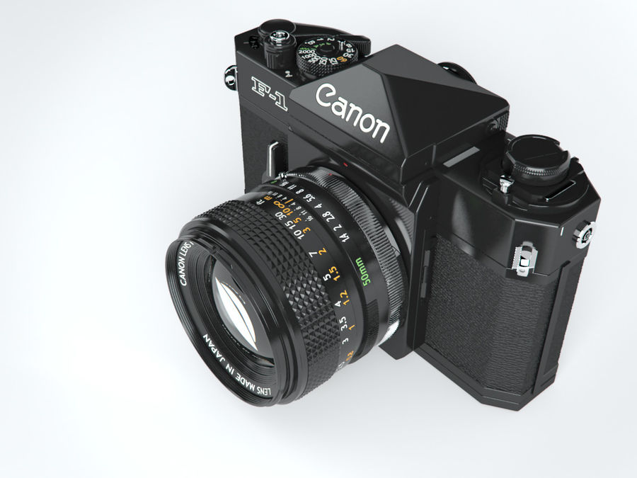 Canon F1 Spiegelreflexkamera royalty-free 3d model - Preview no. 7