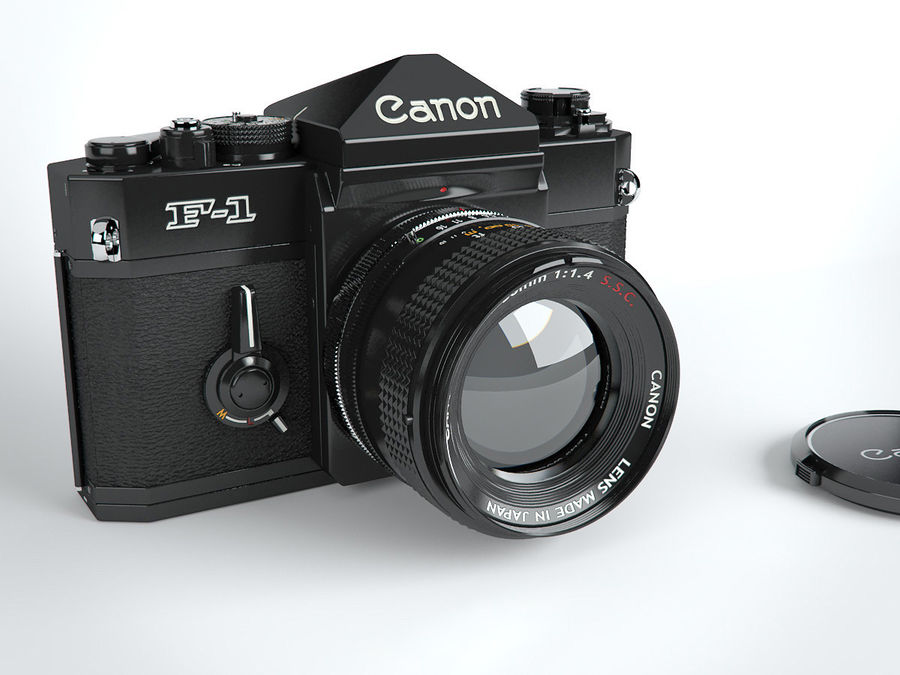 Canon F1 Spiegelreflexkamera royalty-free 3d model - Preview no. 1